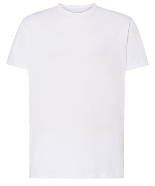 T SHIRT WHITE UNISEX CLASSIC A4 VERTICAL