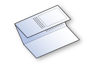 Folded leaflet (one directional fold)